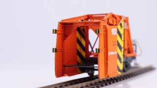BEMO 2299192 - RhB Xk 9132 Räumpflug, orange/gelb - LIMITIERTE AUFLAGE Metal Collection Vbs 01.05.2016